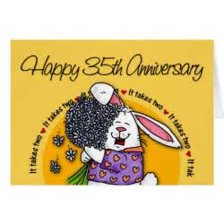 wedding happy 35th anniversary greeting card zazzle