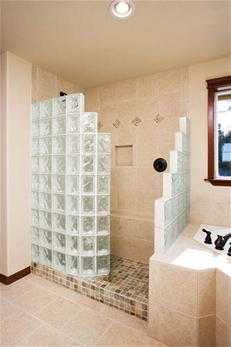 glass block tub replacement shower  st louis