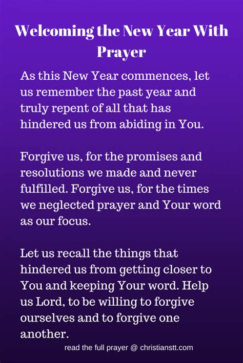 prayer to welcome the new year 2018 amen heavenly