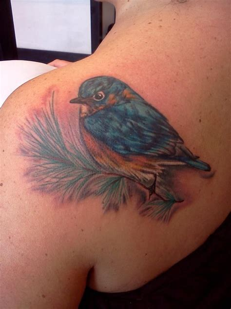 garland tattoo pretty bluebird by miss autumne garland