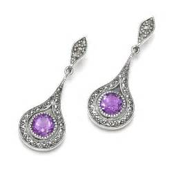 ear rings images sterling silver marcasite semi precious earrings