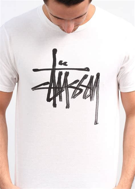 Kaos Tshirt Stussy Logo Green Premium stussy ink logo white
