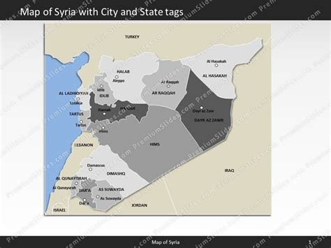 syria map editable map of syria for powerpoint download
