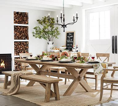 toscana extending dining table seadrift pottery barn