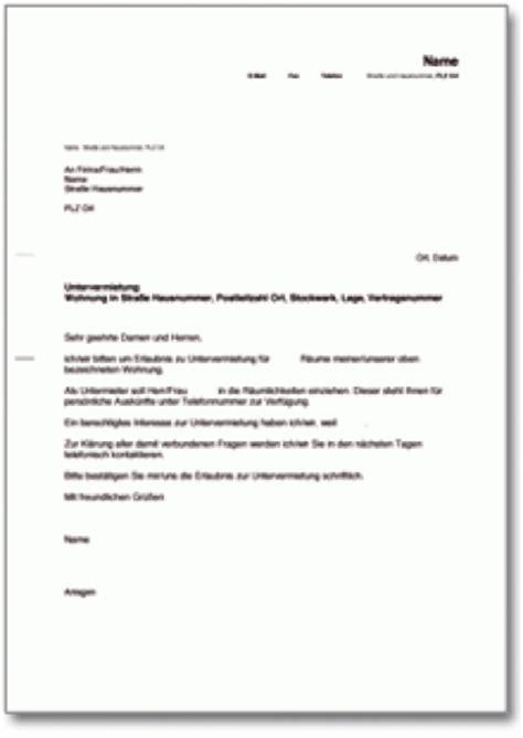 Musterbriefe In Englisch Pdf Schreiben An Vermieter Mit Bitte Um Untervermietung