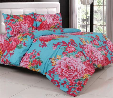 Bed Cover Set Katun Lokal Halus Flower Pink Size 160x200180x200 1 sprei katun jepang margareta tosca warungsprei