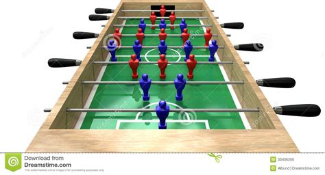 Foosball Table by Foosball Table High Top View Royalty Free Stock Image