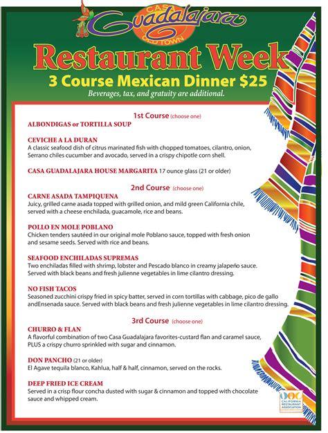 mexican menu ideas for dinner casa guadalajara best mexican restaurant san diego
