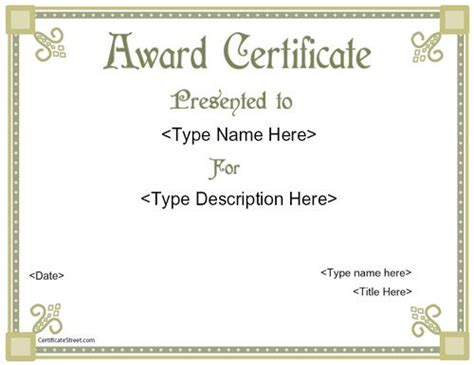 21 best images about special certificates on pinterest