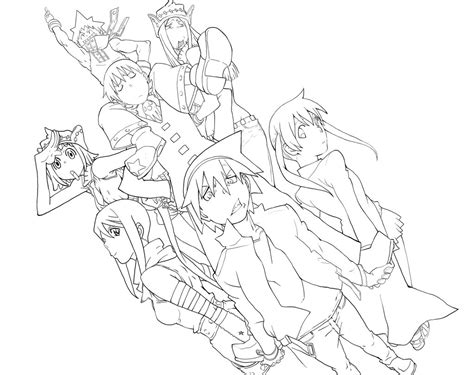 soul eater coloring pages