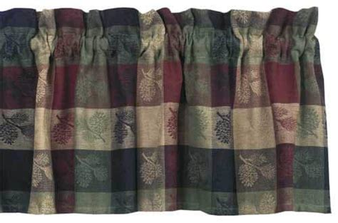 Cabin Style Curtains Pinecone Curtain Valances