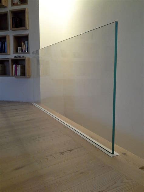 ringhiera scala vetro parapetto in vetro con supporto a scomparsa parapetto