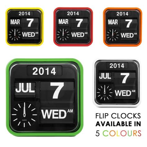 Karlson Wanduhr 949 by Green Retro Square Calender Flip Clock Design Wall