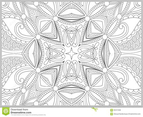 unique coloring pages for adults unique coloring book page for adults flower stock vector