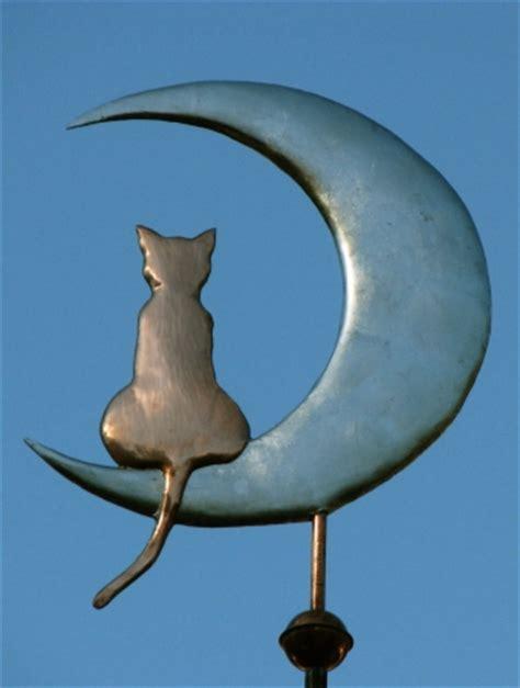 Cat Weathervane Cat On The Moon Weathervane West Coast Weathervanes