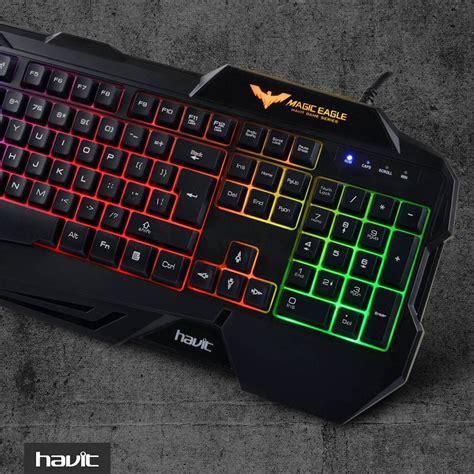Havit Gaming Keyboard Mouse Hv Kb558cm havit hv kb558cm gaming keyboard and mouse combo rainbow