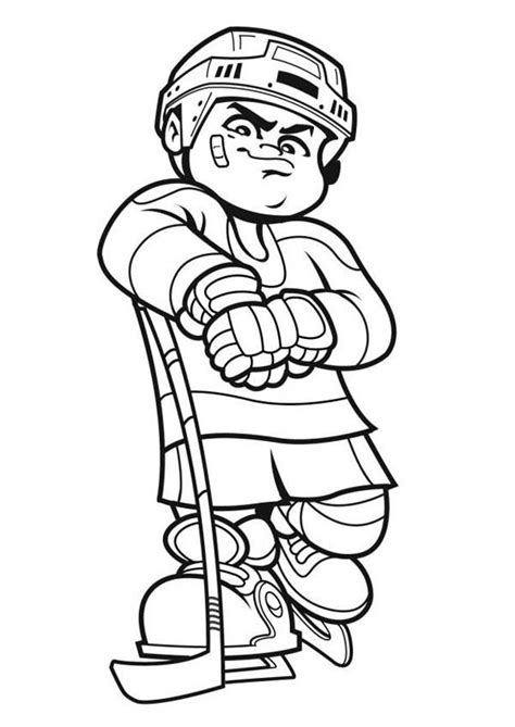 coloring pages of hockey players hockey player cartoon
