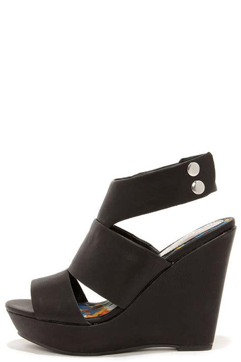 Wedges Wanita Wedges Perempuan 49 black wedges wedge sandals 49 00