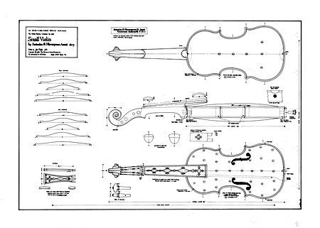 blueprint of a 19th c violin maker s plans 11 x technical drawing of violino piccolo by girolamo amati