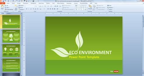 powerpoint template environment green sustainability powerpoint template has four unique