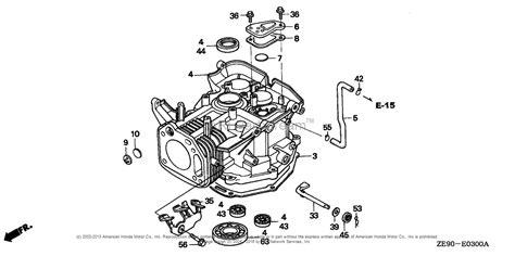 honda engines gxv da engine jpn vin gj   gj  parts diagram  cylinder