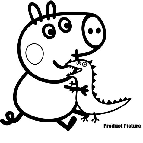colouring pictures of peppa pig and george peppa pig george coloring pages www imgkid com the