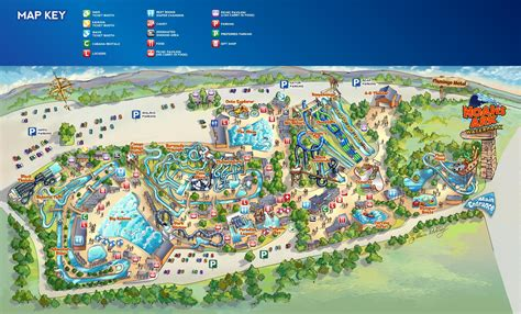 map of us water parks noah s ark is the largest water park in america and the