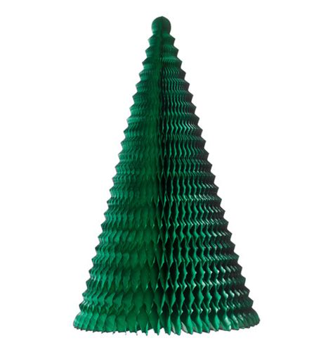 fold out paper christmas tree green dzd