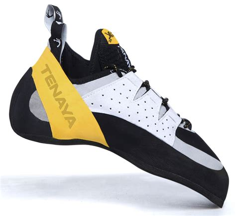tenaya rock climbing shoes tenaya tarifa rock climbing shoe uk 6 5 yellow white