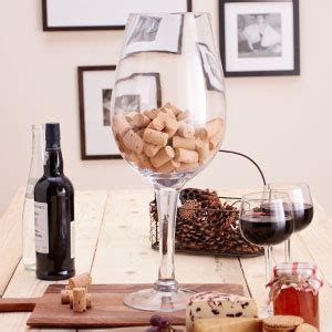 buy giant wine glass decoration 0 5m case of 4 at home
