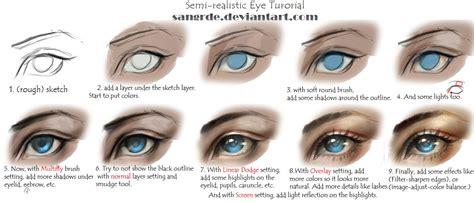 Semi Realistic Eye Tutorial By Sangrde On Deviantart