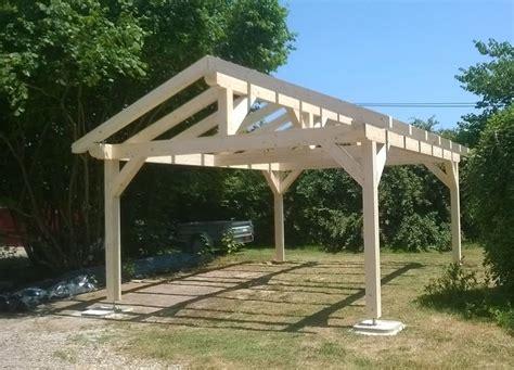 garage bois kit 622 nivrem auvent de terrasse en bois en kit diverses