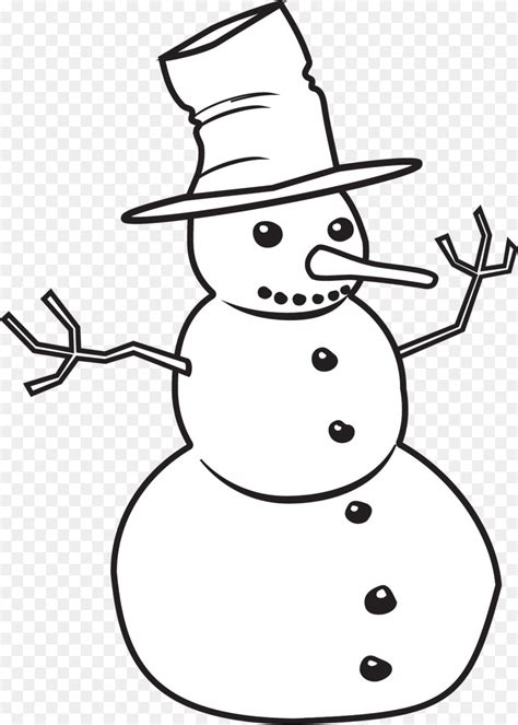 black  white snowman png  black  white