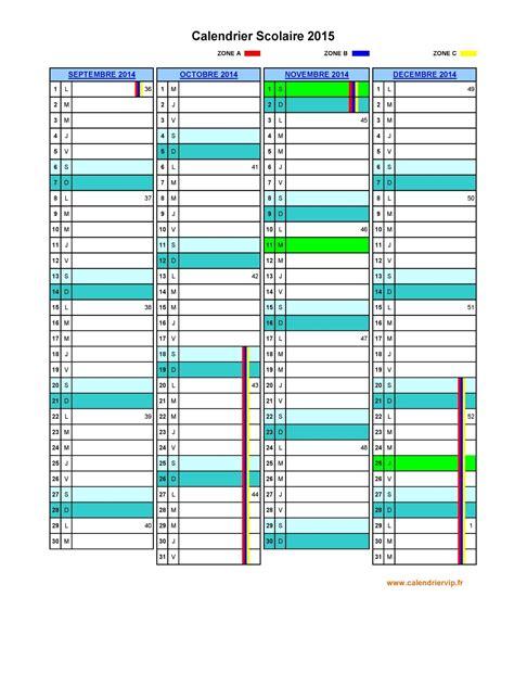 Calendrier Scolaire Vierge Calendrier Scolaire 2015 224 Imprimer Gratuit En Pdf Et Excel