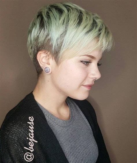 very short hairstyle with highlights lift and a bump on 20 stunning looks with pixie cut for round face blonde