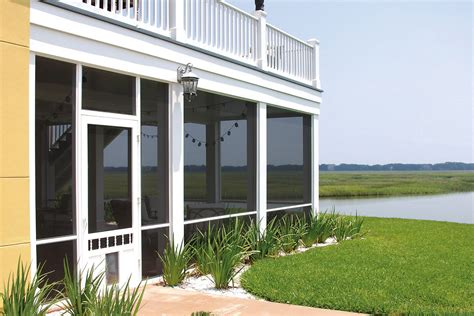 Patio Screening Systems by Screen Tight Fasttrack Porch Screen System Remodeling