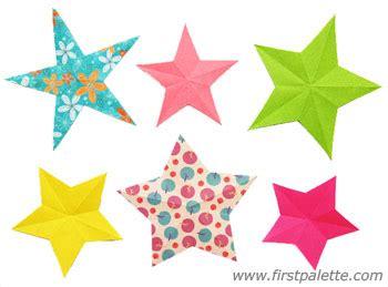 folding paper stars craft | kids' crafts | firstpalette.com