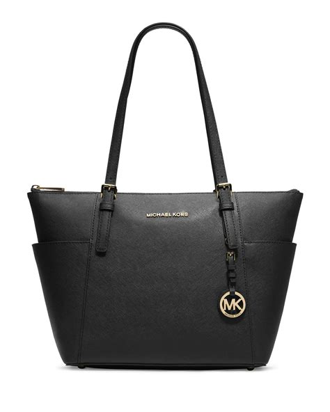 michael michael kors jet set top zip saffiano tote bag