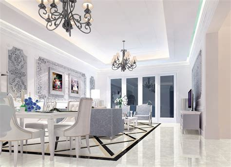 Neoclassical Dining Room Design Neoclassical Picture Of Living Dining Room