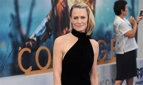 Fashion News From Robin by Robin Wright Turns Heads In Statement Black Dress To La