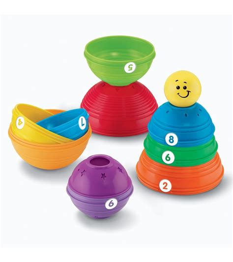 Fisher Price Stack Roll Cups fisher price brilliant basics stack roll cups