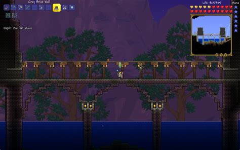 Build 3d House a bridge i built today what do you think terraria