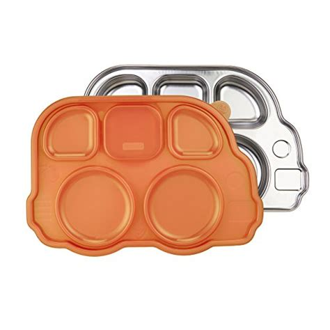 Inno Baby Din Din Smart Stainless Divided Plate compare price divided plates with lids on statementsltd
