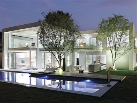 house design glass modern spacious modern house with glass walls shows off chic interior design and decor