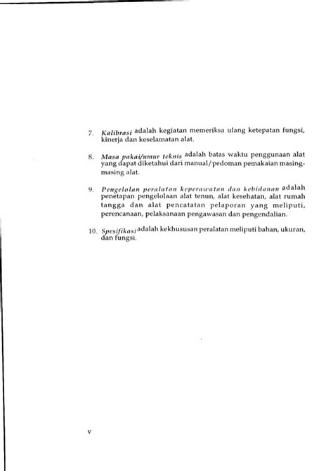 Duk Bolong Duk Operasi standar peralatan keperawatan dan kebidanan di sarana kesehatan