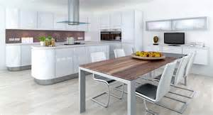 Modern fitted kitchens interior design idea for a small kitchen