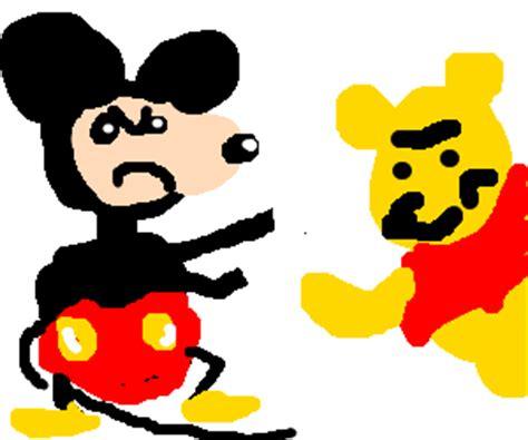 Jual Mouse Komputer Winnie The Pooh mickey mouse vs winnie the pooh