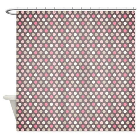 pink and white polka dot shower curtain pink and gray polka dots shower curtain by onlinegiftstore