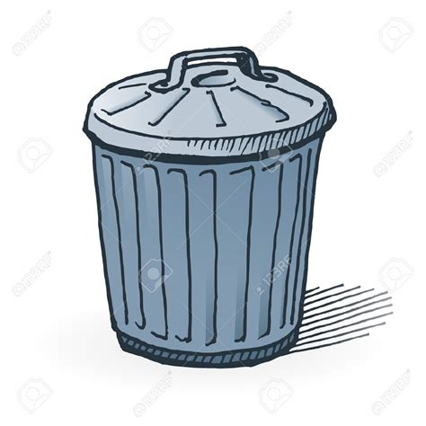 trash can trash clipart comic pencil and in color trash clipart comic