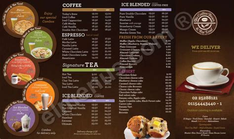 Coffee Bean And Tea Leaf Menu The coffee bean and tea leaf, Images   Frompo